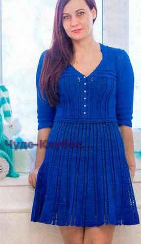 Платье синего цвета 697