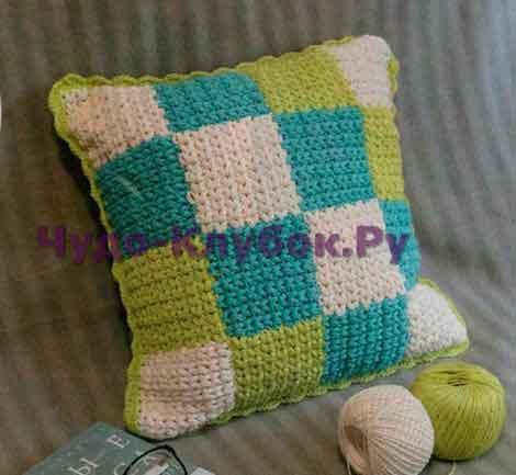 Подушка из квадратов 65