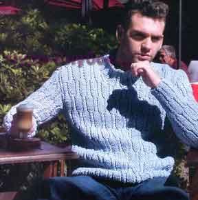 Пуловер голубого цвета 167