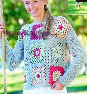 Пуловер из квадратов 1718