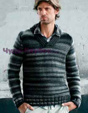 Пуловер с V-образной горловиной 183