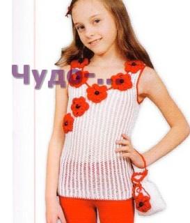 Украшение одежды. Вязание цветка 21