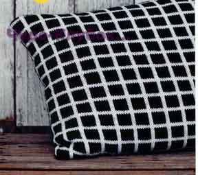 Черно-белые чехлы на подушки 84