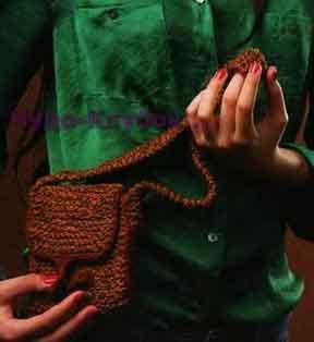 Меланжевая сумочка 124