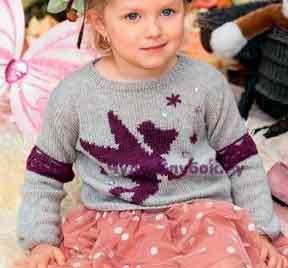 Пуловер для маленькой феи 43