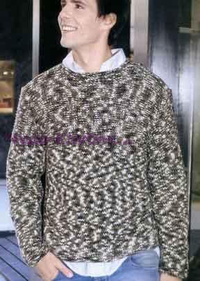 Пуловер из принтованной пряжи 199