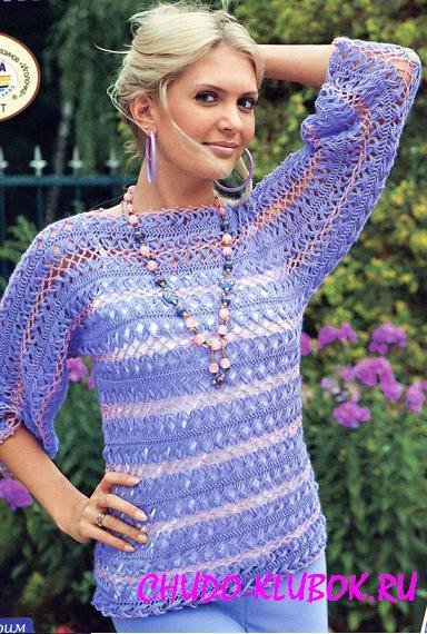 pulover kryuchkom