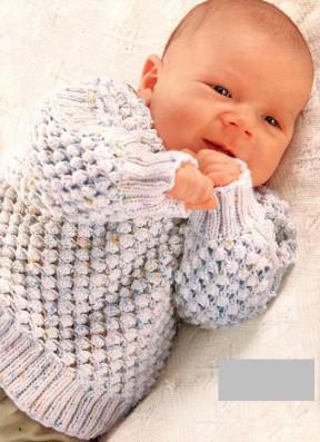 Seryiy pulover s ob'emnyim uzorom 33