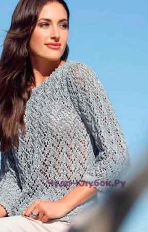 502 serebristyj pulover