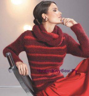 823 Пуловер и шарф-воротник