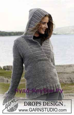 77 Пуловер с капюшоном
