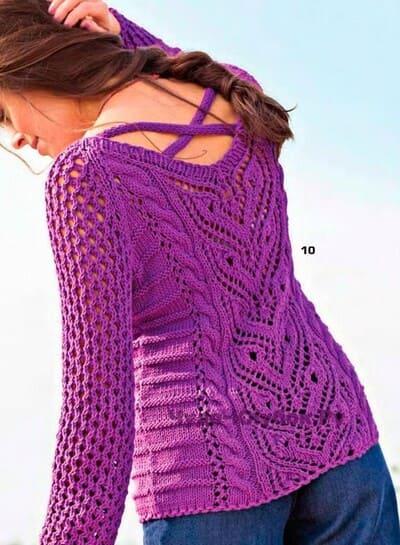 fioletovyj azhurnyj pulover 1100