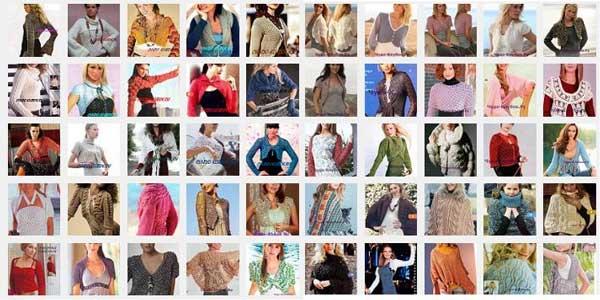 фото модные вязаные Болеро 1 ( модели №1-50)