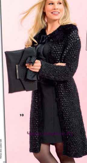Пальто со съемным воротником 130