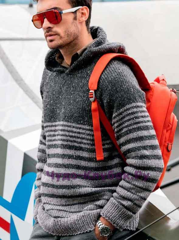 seryiy pulover s kapyushonom 145