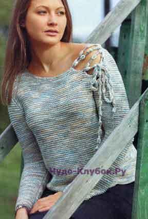 pulover s asimmetrichnym vyrezom 1593