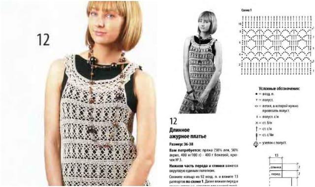 ажурное платье 725