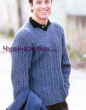 pulover sinego tsveta 207