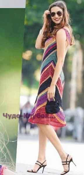 Платье с крупным зигзагообразным узором 720