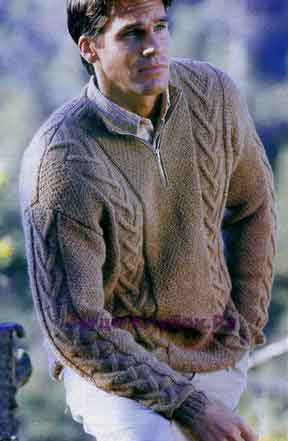 Пуловер с застежкой молнией 229