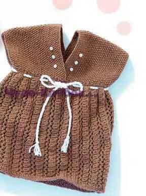 Ажурное платье с декорацией из пуговиц-жемчужин 30