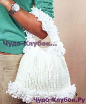 Белая сумка 154