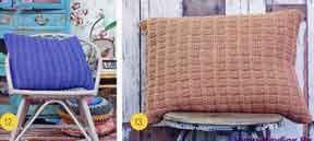 фото Чехлы на подушку вязаные спицами 108