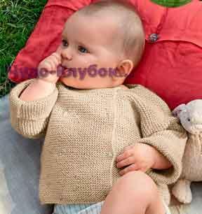 фото Двубортный жакет для малыша вязаный спицами 43