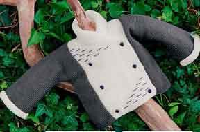 фото Двубортный жакет с вышивкой вязаный спицами 39