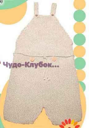 фото Комбинезон-шорты вязаный спицами и крючком 12