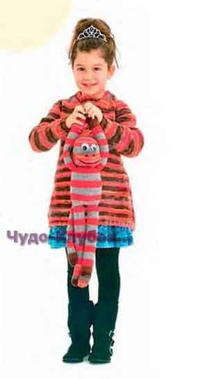 Расклешенный пуловер для девочки 56
