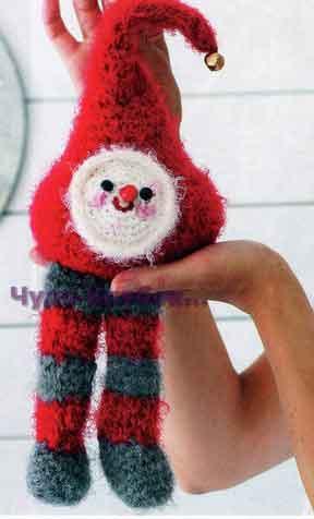 фото Рождественский эльф вязаный крючком 16