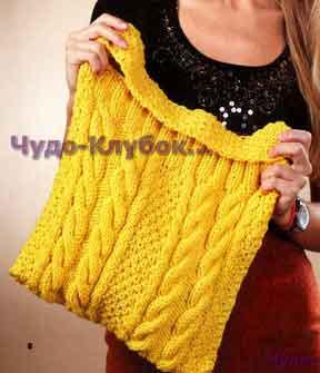 Желтая сумка с узорами 156