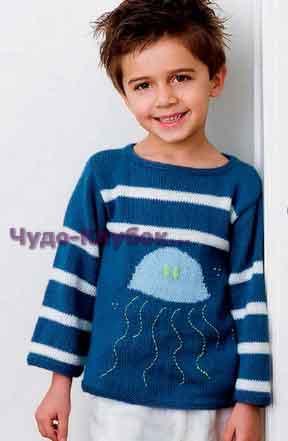 pulover s motivom meduza vyazanyiy spitsami 88