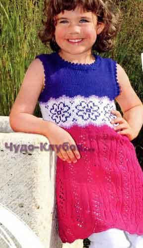 фото Ажурное платье с цветами вязаное спицами и крючком 43
