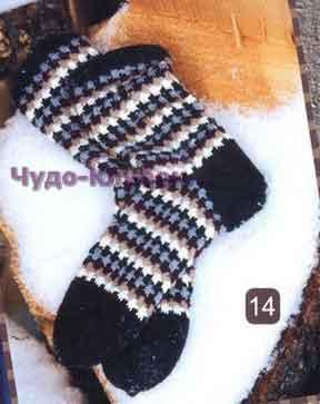 фото Мужские носки вязаные спицами 51