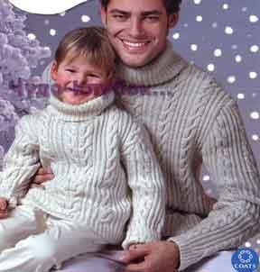 фото Мужской свитер со жгутами вязаный спицами 313
