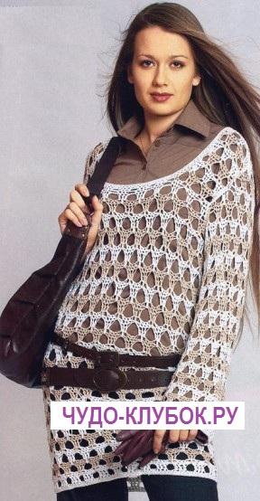 pulover tunika vyazanyiy kryuchkom 26