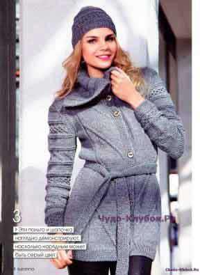фото 103 Пальто и шапочка спицами