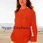 YArkiy pulover vyazanyiy spitsami 1769