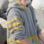 Detskiy pulover s kapyushonom vyazanyiy spitsami 29