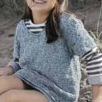 Detskiy pulover s relefnyim uzorom vyazanyiy spitsami 117