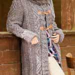 Palto s vorotnikom sharfom vyazanoe spitsami 147
