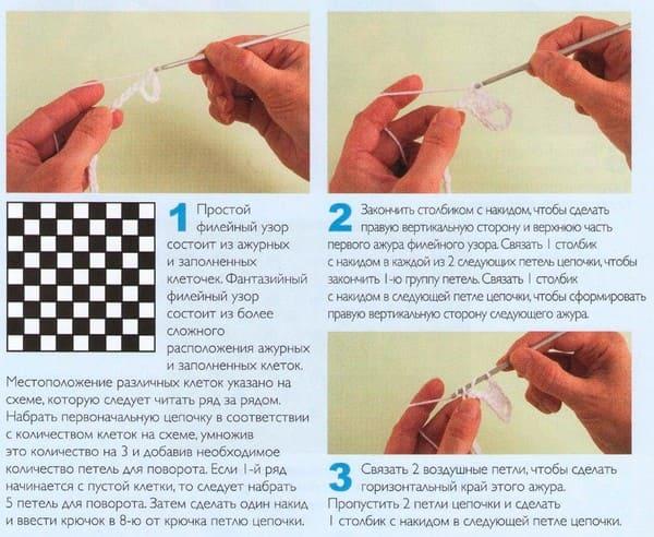 схема Шахматный узор