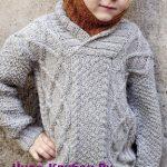 Klassicheskiy detskiy pulover vyazanyiy spitsami 122