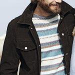 Muzhskoy pulover v raznotsvetnuyu polosku vyazanyiy spitsami 378