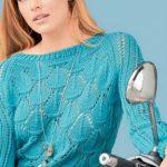 Korotkij pulover vyazanyj spitsami 1875