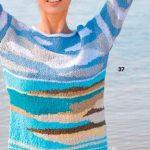 Raznotsvetnyj pulover vyazanyj spitsami 1861