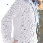 Belyj pulover s rukavami buf vyazanyj spiczami 1900