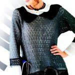 схемы Элегантный пуловер вязаный крючком 1913